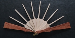 Fan Sticks To Fit Fleur pattern with Dark Guard Sticks