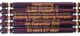 Queen Elizabeth II - Longest Reigning Monarch - Wood